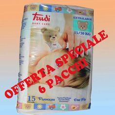 Pannolini Trudi Baby Care Dry Fit 15-30 Kg - 6 confezioni, 90 pezzi