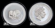 2007 Australia Year of the Pig $1/2 Silver Coin Lunar