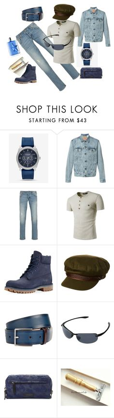 """""""Untitled #184"""" by rosshandmadecrafts ❤ liked on Polyvore featuring Express, Levi's, Armani Jeans, Timberland, Brixton, Paul Smith, Maui Jim, Uri Minkoff, Thierry Mugler and men's fashion"""