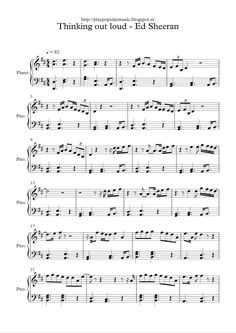 Free sheet music:  Ed Sheeran - Thinking out loud.pdf     My favourite sentence from the lyrics is: Maybe we found love right where we are...