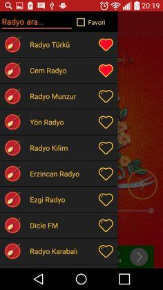 alevi radyolar android uygulamasına ait dinleyebileceğiniz radyoların görüntülendiği listedir.