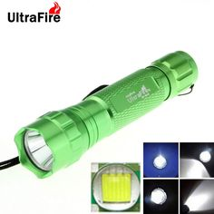 UltraFire WF-501B 8-Mode 800lm XM-L T6 White Light LED Memory Flashlight Torch - Green (1 x 18650). Note: We are currently unable to ship to addresses in HongKong, mainland of China. How to change the mode: Group 1: Choose low mode, wait about 5 seconds, when you see the flashing, turn off flashlight. Then turn on it again, you can switch to 3-mode group or 5-mode group. Flashlight Protection explanations: (1) Mode memory: If the flashlight is turned on more than three seconds, the current…