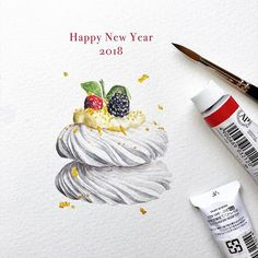 ✨Happy New Year 2018 !!✨ This lovely was shoot by @leilalikes with chef @nedbell #fashion #illustration #illustrator #watercolor #holbein #drawing #draw #chef #waterblog #painting #sharing #foodporn #dessert #2018 #pastry #yummy #newyear # #raspberry #sweets #cute #art #artwork #instaart #instagram #水彩 #糕點#水彩画 #taiwan #lingsketchbook