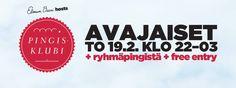 Pingisklubi käynnistyy 19.2. Helsingissä! Livenä soittaa alumnimme Juha Pekka Tapani Heikkinen Ja Niin Edelleen | Elmun Baari