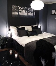 Romantic Bedroom Decor Ideas to Make Your Home More Stylish on a Budget - The Trending House Room Ideas Bedroom, Bedroom Themes, Home Decor Bedroom, Bed Room, Black Bedroom Decor, Gothic Bedroom, Dream Rooms, Dream Bedroom, Romantic Bedroom Colors