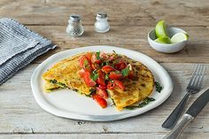 Superfood Quesadillas with Cherry Tomato Salsa