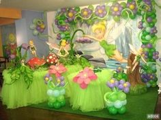 Fiesta infantil con tema de Campanita http://tutusparafiestas.com/fiesta-infantil-tema-campanita/ Children's Theme Party with Tinker Bell #Fiestadecampanita #FiestainfantilcontemadeCampanita #Fiestasinfantiles #ideasparatusfiestas #Temasparafiestas #Tematicasparafiestasinfantiles