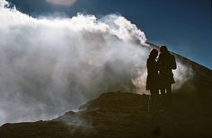 At the Crater of the Etna on Sicily, 1972, via Flickr.