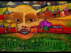 Hundertwasser paintings and children's inspired artwork