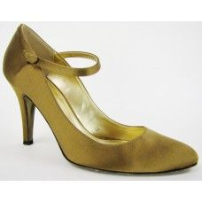 J. Crew Bronzed Olive Satin Mary Jane Pumps | Gently Used Designer Shoes for Less