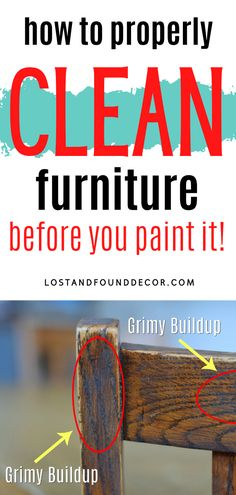 This one step is crucial in gettig a good, durable finish. Learn how to properly clean your furniture, why it matters, and what products to use for the best result. #paintingfurniture