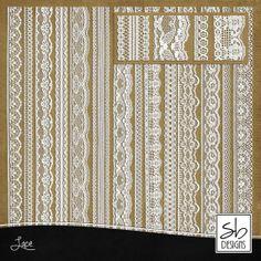 Digital Scrapbook Embellishments  Digital Lace by SBdigitalDesigns, $3.50