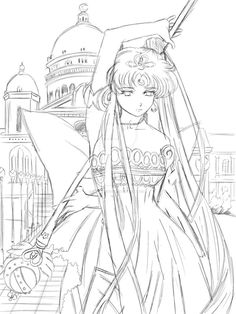 queen serenity coloring pages | Anime girl coloring nice stunning coloring pages cute ...