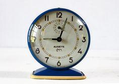 """""""Alouette"""" from RueDesLouvres on etsy Vintage Love, French Vintage, Vintage Alarm Clocks, I Shop, Restoration, Tic Toc, Blue, Design, Etsy"""