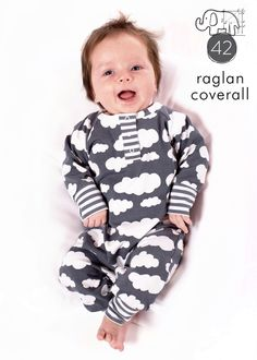 Baby coverall pattern, snap placket neck, detailed photo tutorial, sizes Preemie-6T -Pattern 42 by brindilleandtwig on Etsy https://www.etsy.com/listing/177068745/baby-coverall-pattern-snap-placket-neck