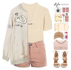 """""""pink princess ♡ polyvore"""" by lanadelnotyou ❤ liked on Polyvore featuring Totême, Kendra Scott, Aquazzura, Chanel, Globe-Trotter, Sugar Paper, Bobbi Brown Cosmetics, tarte, contestentry and styleinsider"""