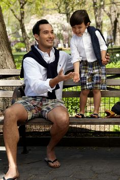 The perfect pair in Ralph Lauren. #fathersday