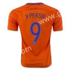 e9b858ec1 2016European Cup Netherlands V.PERSIE Home Orange Thailand Soccer Jersey  Cheap Football Shirts