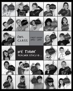 Great class gift or picture of child each year. - Great class gift or picture of child each year…. Informationen zu Great class gift or picture of c - Student Teacher Gifts, Class Teacher, Teacher Appreciation Week, Your Teacher, Teacher Retirement Gifts, Teacher Assistant, Trucage Photo, Diy Photo, Orla Infantil