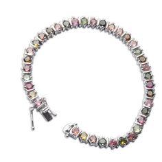 Amazon.com: Handmade Jewelry from India Sterling Silver Link Bracelet Zircon Gemstones 7.5 Inches: ShalinCraft: Jewelry