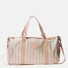 Ilundi - Linen and Leather Duffel Bag – Grey