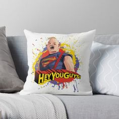 The Goonies is a 1985 American adventure comedy film directed by Richard Donner, who produced with Harvey Bernhard.The screenplay was written by Chris Columbus from a story by executive producer Steven Spielberg. Throw Pillows Bed, Bed Throws, Floor Pillows, Decorative Throw Pillows, Canvas Art Prints, Canvas Wall Art, Framed Prints, Chris Columbus, Richard Donner