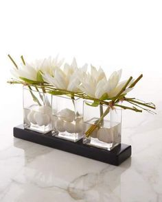 John-Richard Collection Water Lilies Faux-Floral Arrangement
