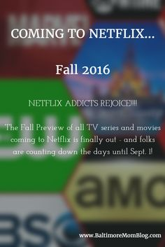 NETFLIX ADDICTS REJOICE!!!! The Fall Preview of all TV series and movies coming to Netflix is finally out - and folks are counting down the days until Sept. 1!  From Netflix Originals to Disney Movies to Third-Party Titles (from CBS, The CW, FX, AMC and more), the list is definitely causing a stir on Facebook. What do you think??? #disney #entertainment #gilmoregirls #houseofcards #marvel #movies #narcos #netflix #oitnb #orangeisthenewblack #strangerthings #tv #orangeisthenewblack #zootopia