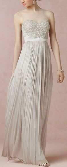 BHDLN Vivienne Gown White for wedding gown or other color for bridesmaid dresses!