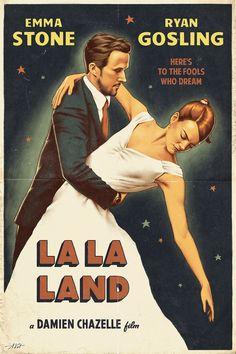 La La Land vintage poster by Alexey Kot #lalaland