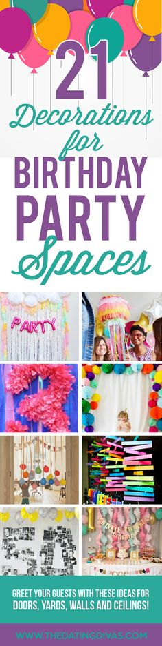 Ways to Decorate for a Birthday Party- so many cute ideas for getting CUTE birthday pics.
