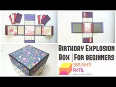 Art and Craft: Explosion Box Tutorial! (Basic) How to make an Explosion Box Card - DIY Gift Idea! - YouTube