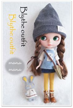 ☆Blythe outfit☆ チェックのシャツコート・11点set_画像2