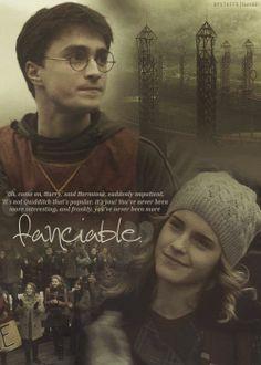 Harry Potter and Hermione Granger Harry Potter Hermione, Draco, Harry Potter Quotes, Harry Potter Love, Harry Potter Characters, Harry Potter Fandom, Harry Potter Universal, Harry Potter World, Hermione Granger