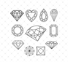 Bow svg cut files for Cricut, Silhouette and other Vinyl Cutting Machines, Vector Graphic Files, svg files Diamond Tattoo Designs, Diamond Tattoos, Music Tattoo Designs, Diamond Design, Small Diamond Tattoo, Diamond Vector, Diamond Logo, Diamond Cuts, Coloring Books