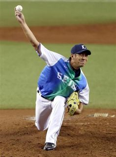 Jun Yamamoto goes 5 solid innings of 1-run ball, scattering 3 hits and striking out 2 Eagles in a 6-2 win over the Eagles at Seibu Dome on Sunday, August 19, 2012 in Seibu Railway 100th Anniversary Series.