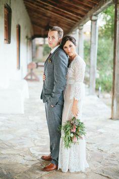 A little boho, a little vintage, and a whole lot of chic: http://www.stylemepretty.com/little-black-book-blog/2015/01/27/whimsical-vintage-rancho-buena-vista-adobe-wedding/ | Photography: Aga Jones - http://blog.agajonesphotography.com/
