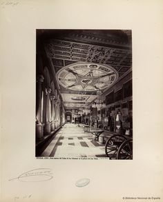 Interior of San Telmo Palace. Photo by Juan Laurent. National Library of Spain.