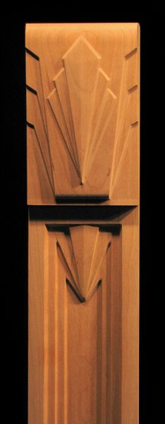 art deco column pilaster