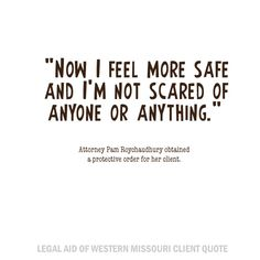 Quote from Legal Aid's Joplin Office