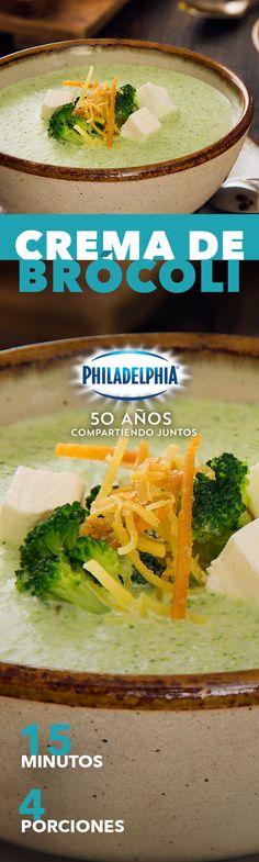 Sabemos que cuando tu comida es deliciosa, dejas la cuchara de lado. Prueba esta Crema de brócoli con Philadelphia. #recetas #receta #quesophiladelphia #philadelphia #quesocrema #queso #comida #cocinar #cocinamexicana #recetasfáciles #recetasPhiladelphia #recetasdecocina #comer #crema #comida #brocoli #vegetales #cremas #recetacrema #inspiracionrecetas