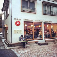 FUGLEN TOKYO; Norway style coffe shop & bar, where is close to Yoyogi park and so relaxing in renovated Japanese style house.