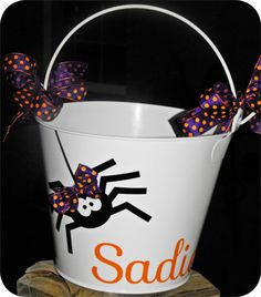 Personalized Halloween Bucket @Debbie Toppert