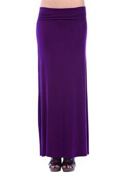 Color- Eggplant  #maxi #skirt #long