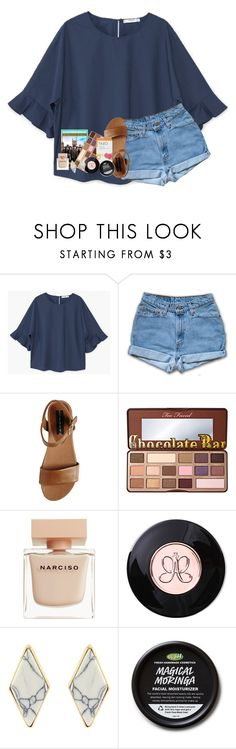 """p l z  h a v e  m e r c y  o n  m y  h e a r t"" by lindsaygreys ❤ liked on Polyvore featuring MANGO, Steve Madden, Too Faced Cosmetics and Narciso Rodriguez"