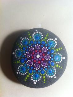 Jewel drop mandala stone