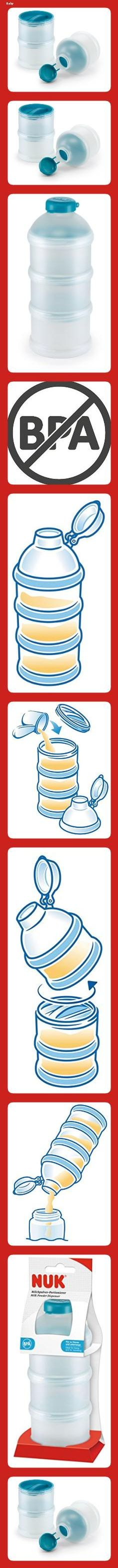 NUK Milchpulver-Portionierer BPA-Frei 3 StüCk Petrol Farbe Baby Babyflashen