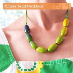 How to Make a Beautiful Ombre Beaded Necklace via Crafttuts+. #FreeTutorial #Beads #Jewellery #Necklace #Ombre #Gradient #DIY