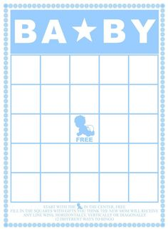 Through a Fun Baby Shower With These Free, Printable Bingo Cards: Free Baby Shower Bingo Cards by The Scrap Shoppe Blog