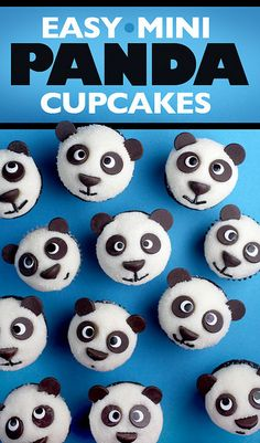 Mini - Panda-cupcakes.   I am not much of a baker...but I just might give these a try.  Too cute...